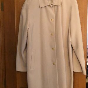 Satin lined buttoned front raincoat
